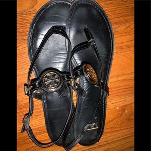 Tory Burch black sandals,size 9